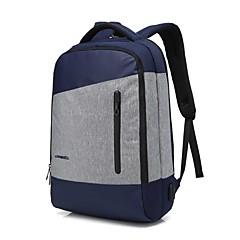 preiswerte Laptop Taschen-15,6 Zoll Laptop Nähte Business wasserdichtes Nylon Tuch mit USB Lade Port Notebook Tasche Rucksack für MacBook / Dell / PS / Lenovo /