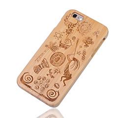 Недорогие Кейсы для iPhone 6-Кейс для Назначение iPhone 6s iPhone 6 Apple iPhone 6 Защита от удара Кейс на заднюю панель Геометрический рисунок Твердый Бамбук для