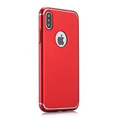Недорогие Кейсы для iPhone 7-Кейс для Назначение Apple iPhone X iPhone 8 Ультратонкий Матовое Задняя крышка Сплошной цвет Твердый PC для iPhone X iPhone 8 Pluss