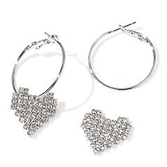 Women's Drop Earrings Hoop Earrings , Fashion European Alloy Heart Jewelry Gift Daily