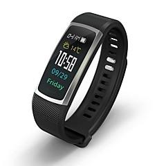 tanie Inteligentne zegarki-Inteligentna bransoletka Bluetooth Spalone kalorie Czuj dotyku Pomiar ciśnienia krwi Kontrola APP Pulse Tracker Krokomierz Rejestrator