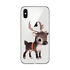 billige Etuier til iPhone 7 Plus-Etui Til Apple iPhone X iPhone 8 Plus iPhone 7 iPhone 6 iPhone 5 etui Ultratyndt Mønster Bagcover Jul Blødt TPU for iPhone X iPhone 8