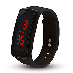preiswerte Tolle Angebote auf Uhren-Damen digital Digitaluhr Chinesisch Chronograph Armbanduhren für den Alltag Silikon Band Freizeit Minimalistisch Modisch Cool Schwarz