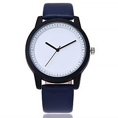 preiswerte Damenuhren-Damen Armbanduhr Chinesisch Großes Ziffernblatt Echtes Leder Band Freizeit / Modisch Schwarz / Blau / Braun / Ein Jahr