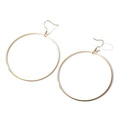 billige Øreringe-Dame Store øreringe , Mode Overdimensionerede Legering Cirkelformet Smykker Gade Ferie