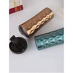 abordables Tazas y vasos-Oficina / Carrera Artículos para Bebida, 500 Acero inoxidable Marrón Café ventosa Vaso