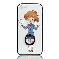 Недорогие Кейсы для iPhone 7-Кейс для Назначение Apple iPhone 8 Plus iPhone 6 Plus Защита от удара Кольца-держатели С узором Задняя крышка Мультипликация Твердый PC
