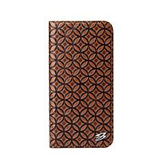 Недорогие Кейсы для iPhone X-Кейс для Назначение Apple iPhone X iPhone X Кошелек со стендом Чехол Сплошной цвет Твердый Настоящая кожа для iPhone X