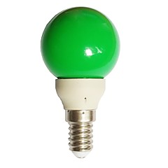 0.5W E14 LED Globe Bulbs G45 7 Dip LED 15-25 lm Green 0000 K AC100-240 V
