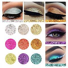 abordables Sombras de Ojos-1 Paleta de Sombras de Ojos Brillo Paleta de sombra de ojos Polvo Maquillaje de Diario Maquillaje de Halloween Maquillaje de Fiesta