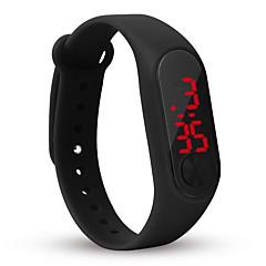 preiswerte Damenuhren-Damen Digitaluhr Chinesisch Chronograph / Armbanduhren für den Alltag / Cool Silikon Band Freizeit / Modisch / Minimalistisch Schwarz / Weiß / Blau
