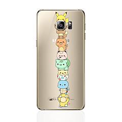 voordelige Galaxy S6 Edge Hoesjes / covers-hoesje Voor Samsung Galaxy S8 Plus S8 Patroon Achterkant Cartoon Zacht TPU voor S8 Plus S8 S7 edge S7 S6 edge plus S6 edge S6