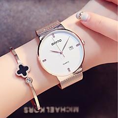 お買い得  大特価腕時計-女性用 クォーツ リストウォッチ 日本産 カレンダー / クール ステンレス バンド ミニマリスト / ファッション ブラック / シルバー
