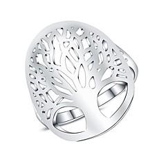olcso Gyűrűk-Női Vallomás gyűrűk Divat Ezüstözött Az élet fája Ékszerek Napi