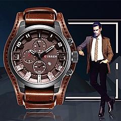 preiswerte Tolle Angebote auf Uhren-CURREN Herrn Armbanduhr Chinesisch Armbanduhren für den Alltag / Cool / Großes Ziffernblatt Leder Band Freizeit / Modisch / Elegant Schwarz / Orange / Braun / Maxell SR626SW