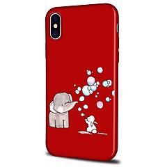 Недорогие Кейсы для iPhone X-Кейс для Назначение Apple iPhone X iPhone 8 Plus С узором Задняя крышка Мультипликация Слон Мягкий TPU для iPhone X iPhone 8 Pluss iPhone