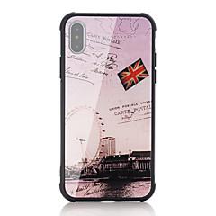 Недорогие Кейсы для iPhone 7 Plus-Кейс для Назначение Apple iPhone X iPhone 8 Защита от удара С узором Кейс на заднюю панель Слова / выражения Флаг Твердый Закаленное