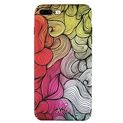 Недорогие Кейсы для iPhone 7-Кейс для Назначение Apple iPhone 6 iPhone 7 С узором Кейс на заднюю панель Полосы / волосы Твердый ПК для iPhone 8 Pluss iPhone 8 iPhone