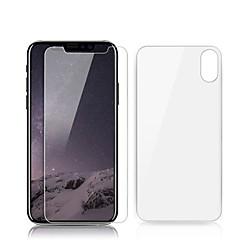 Недорогие Защитные пленки для iPhone X-Защитная плёнка для экрана Apple для Закаленное стекло 2 штs Защитная пленка для экрана и задней панели Самозаживление Против отпечатков
