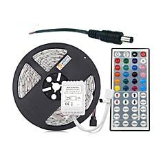 abordables Sets de Luces-Impermeable 300 LED Luz de cadena de 5M Controlador remoto de 1 44 teclas RGB Cortable DC Powered