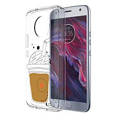 Недорогие Чехлы и кейсы для Motorola-Кейс для Назначение Motorola E4 Plus 5 С узором Кейс на заднюю панель Продукты питания Мягкий ТПУ для Moto X4 Moto E4 Plus Moto E4