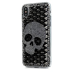 voordelige iPhone 6 Plus hoesjes-hoesje Voor Apple iPhone X iPhone 8 Plus Strass Patroon Volledige behuizing Bloem Hard PU-leer voor iPhone X iPhone 8 Plus iPhone 8