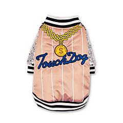 お買い得  犬用ウェア&アクセサリー-犬 コート 犬用ウェア スパンコール / 文字&番号 ブラック / ピンク コットン コスチューム ペット用 シュラッグ / カジュアル/普段着