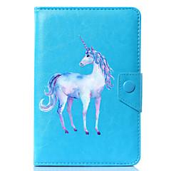 お買い得  タブレット用ケース-ケース 用途 フルボディーケース タブレットケース ユニコーン カートゥン ハード PUレザー のために
