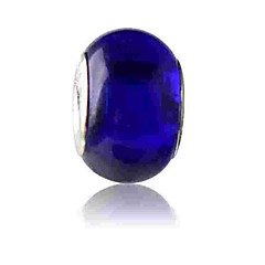 お買い得  ビーズ&ジュエリー製作-DIYジュエリー 1 個 ビーズ ダークブルー ボール型 ガラス 合金 ビーズ 0.43 cm DIY ブレスレット ネックレス