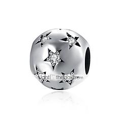 お買い得  ビーズ&ジュエリー製作-DIYジュエリー 1 個 ビーズ シルバー イミテーションダイヤモンド シルバー ボール型 星形 ビーズ 0.9 cm DIY ネックレス ブレスレット
