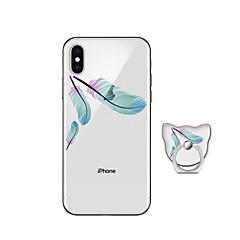 Недорогие Кейсы для iPhone X-Кейс для Назначение Apple iPhone X iPhone 8 Plus со стендом Кейс на заднюю панель  Перья Мягкий ТПУ для iPhone X iPhone 8 Pluss iPhone 8