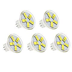 preiswerte LED-Birnen-5 Stück 3W 350lm MR11 LED Spot Lampen MR11 15 LED-Perlen SMD 5730 Dekorativ Warmes Weiß Kühles Weiß 12V