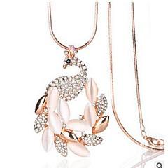 preiswerte Halsketten-Damen Opal Anhängerketten - Opal, Diamantimitate Pfau Klassisch, Modisch Gold Modische Halsketten Schmuck 1 Für Alltag