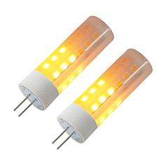 preiswerte LED-Birnen-BRELONG® 2pcs 3W 230lm G4 LED Mais-Birnen 36 LED-Perlen SMD 2835 Flammeneffekt Warmes Weiß 12V