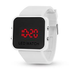 voordelige Smartwatches-yy l8008 spiegel gelei elektronische armband kijken mannelijke vrouwelijke casual student kind automatische digitale klok