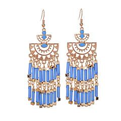 preiswerte Ohrringe-Damen Opal Quaste Tropfen-Ohrringe - Opal Quaste, Modisch Rot / Grün / Blau Für Karnival / Ausgehen