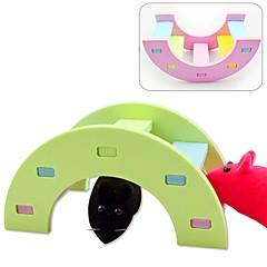お買い得  小動物用アクセサリー-ウッド パータブル おもちゃ グリーン ピンク