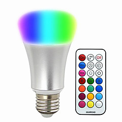 cheap LED Bulbs-580-700 lm E26/E27 LED Smart Bulbs BR 30 leds SMD 5050 Dimmable Decorative Remote-Controlled RGB AC 220-240V