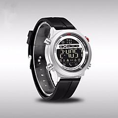 preiswerte Armbanduhren für Paare-Herrn / Paar Sportuhr Chinesisch Bluetooth / Kalender / Wasserdicht Silikon Band Luxus / Freizeit / Modisch Schwarz / Schrittzähler / Stopuhr