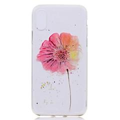 Недорогие Кейсы для iPhone 7-Кейс для Назначение Apple iPhone X iPhone 8 Plus Прозрачный С узором Задняя крышка Цветы Мягкий TPU для iPhone X iPhone 8 Pluss iPhone 8