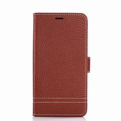Недорогие Чехлы и кейсы для Xiaomi-Кейс для Назначение Xiaomi Бумажник для карт Кошелек со стендом Флип Чехол Сплошной цвет Твердый Кожа PU для Redmi Note 5A Xiaomi Redmi