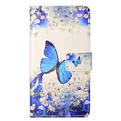 Недорогие Кейсы для iPhone 6 Plus-Кейс для Назначение Apple iPhone X iPhone 8 Plus Кошелек Бумажник для карт со стендом Флип Магнитный Чехол Бабочка Твердый Искусственная