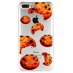 お買い得  iPhone 5S/SE ケース-ケース 用途 Apple iPhone 6 iPhone 7 半透明 パターン エンボス加工 バックカバー 食べ物 カートゥン ソフト TPU のために iPhone X iPhone 8 Plus iPhone 8 iPhone 7 Plus iPhone 7