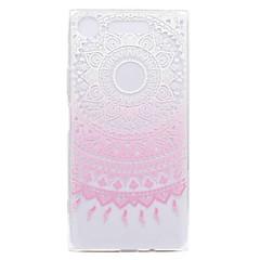 olcso -Case Kompatibilitás Sony Xperia XZ1 Xperia XZ1 Compact Átlátszó Minta Hátlap Virág Puha TPU mert Xperia XZ1 Compact Sony Xperia XZ1 Sony