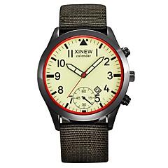 preiswerte Herrenuhren-Herrn Modeuhr Japanisch Armbanduhren für den Alltag Stoff Band Freizeit Schwarz / Blau / Grün