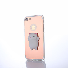 abordables Ahorros Sugerentes-Funda Para Apple iPhone X / iPhone 8 Espejo / Manualidades / Blando Funda Trasera Animal / Caricatura Dura Acrílico para iPhone X / iPhone 8 Plus / iPhone 8