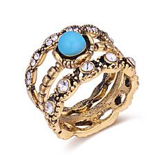 preiswerte Ringe-Damen Knöchel-Ring - Zirkon, Acryl Retro, Europäisch, Modisch 7 Bronze Für Alltag / 3 Stück