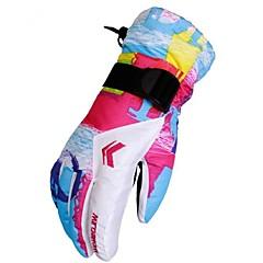 저렴한 -여성용 모든 손가락 따뜨하게 유지 방풍 미끄럼 방지 견고함 폴리에스테르 / 면 혼합 우레탄 캠핑 & 하이킹 스키 사이클링 / 자전거 캠핑 / 등산 / 동굴탐험 오토바이 겨울