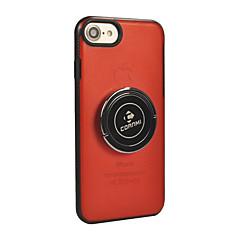 Недорогие Кейсы для iPhone 7-Кейс для Назначение Apple iPhone X iPhone 8 Кольца-держатели Сплошной цвет Твердый для