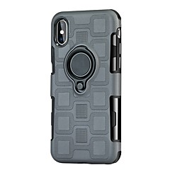 billige Etuier til iPhone 7-Etui Til Apple iPhone X iPhone 8 Stødsikker Med stativ Ringholder Bagcover Rustning Hårdt TPU for iPhone X iPhone 8 Plus iPhone 8 iPhone